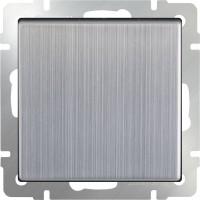 Выключатель 1клавишный проходной (глянцевый никель) /WL02-SW-1G-2W