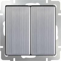 Выключатель 2клавишный проходной (глянцевый никель) /WL02-SW-2G-2W