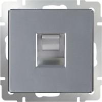 Телефонная розетка RJ-11 (серебряный) /WL06-RJ-11