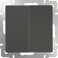 Выключатель 2клавишный проходной (серо-коричневый) /WL07-SW-2G-2W