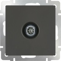 ТВ розетка оконечная (серо-коричневый) /WL07-TV