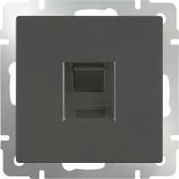 Телефонная розетка RJ-11 (серо-коричневый) /WL07-RJ-11