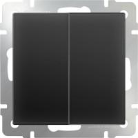 Выключатель 2клавишный проходной (черный-матовый) /WL08-SW-2G-2W