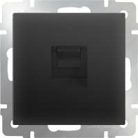 Розетка Интернет RJ-45 (черный-матовый) /WL08-RJ-45