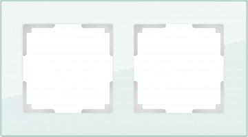 Рамка на 2 поста (натуральн. стекло)  FAVORIT/WL01-Frame-02