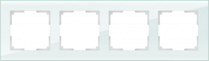 Рамка на 4 поста (натуральн. стекло)  FAVORIT/WL01-Frame-04
