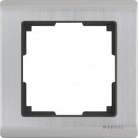 Рамка на 1 пост (глянцевый никель) METALLIC/WL02-Frame-01