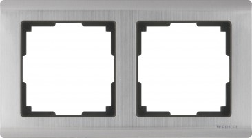 Рамка на 2 поста (глянцевый никель) /WL02-Frame-02