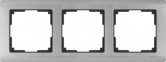 Рамка на 3 поста (глянцевый никель) METALLIC/WL02-Frame-03