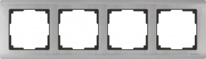 Рамка на 4 поста (глянцевый никель) METALLIC/WL02-Frame-04