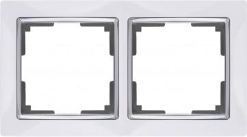 Рамка на 2 поста (белый) SNABB/WL03-Frame-02-white