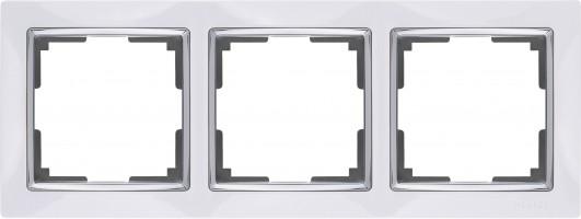 Рамка на 3 поста (белый) SNABB/WL03-Frame-03-white