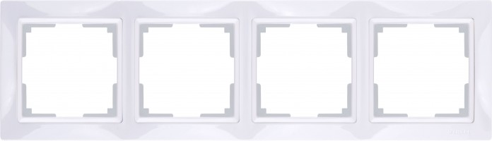 Рамка на 4 поста (белый) SNABB/WL03-Frame-04-white