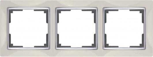 Рамка на 3 поста (слоновая кость)SNABB /WL03-Frame-03-ivory