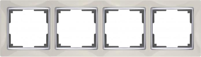 Рамка на 4 поста (слоновая кость) SNABB/WL03-Frame-04-ivory