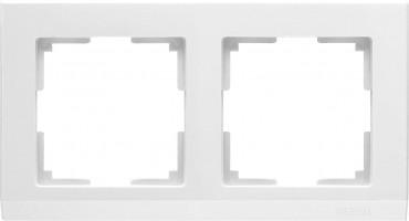 Рамка на 2 поста (белый) STARK/WL04-Frame-02-white