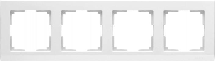 Рамка на 4 поста (белый) STARK/WL04-Frame-04-white
