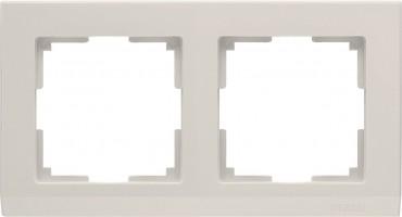 Рамка на 2 поста (слон кость) STARK/WL04-Frame-02-ivory