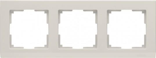 Рамка на 3 поста (слон кость) STARK/WL04-Frame-03-ivory