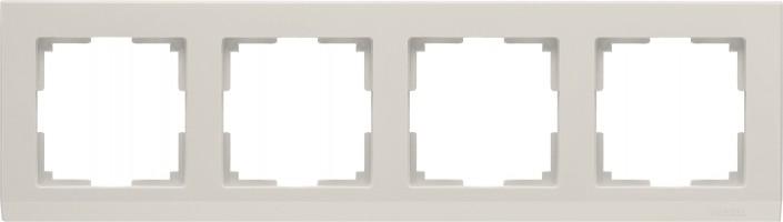 Рамка на 4 поста (слон кость) STARK/WL04-Frame-04-ivory