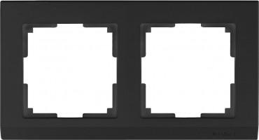 Рамка на 2 поста (черный) STARK/WL04-Frame-02-black