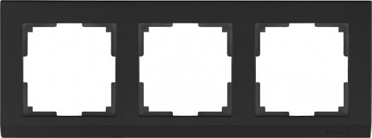 Рамка на 3  поста (черный) STARK/WL04-Frame-03-black