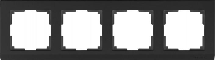 Рамка на 4 поста (черный) STARK /WL04-Frame-04-black