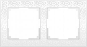 Рамка на 2 поста (белый)  FLOCK/WL05-Frame-02-white