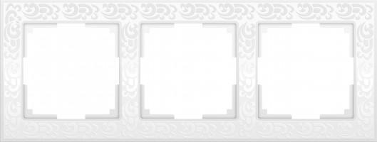 Рамка на 3 поста (белый)  FLOCK/WL05-Frame-03-white