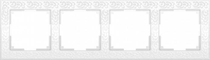 Рамка на 4 поста (белый)  FLOCK/WL05-Frame-04-white