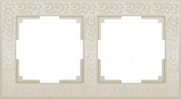 Рамка на 2 поста (слон кость)  FLOCK/WL05-Frame-02-ivory