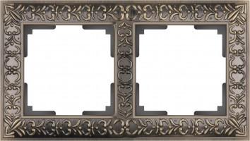 Рамка на 2 поста  (бронза) ANTIK/WL07-Frame-02
