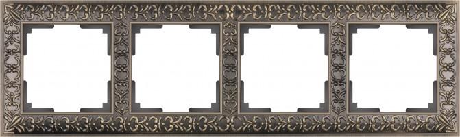 Рамка на 4 поста  (бронза) ANTIK/WL07-Frame-04