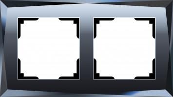 Рамка на 2 поста (черный)  DIAMANT/WL08-Frame-02