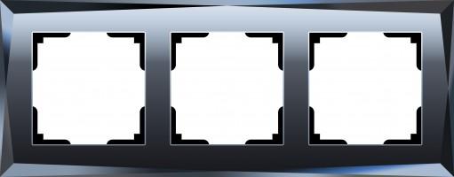 Рамка на 3 поста (черный)  DIAMANT/WL08-Frame-03