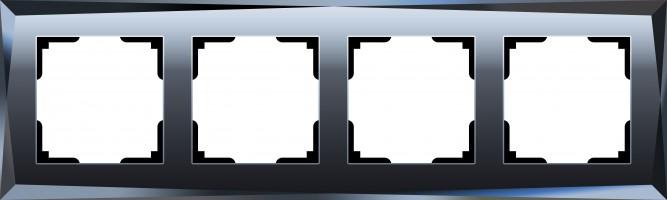 Рамка на 4 поста (черный) /WL08-Frame-04