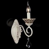 Настенный светильник 3160/1 белый с золотом/хрусталь Strotskis