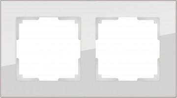 Рамка на 2 поста (дымчатый, стекло) FAVORIT/ WL01