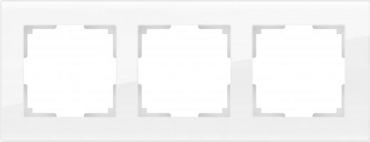 Рамка на 3 поста (белый, стекло) FAVORIT/ WL01