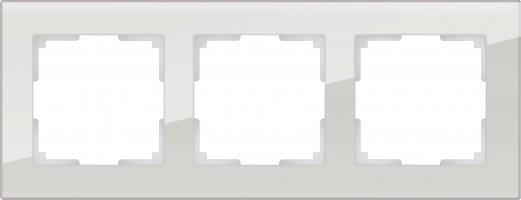 Рамка на 3 поста (дымчатый, стекло) FAVORIT/ WL01