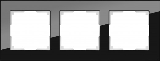 Рамка на 3 поста (черный) FAVORIT/ WL01