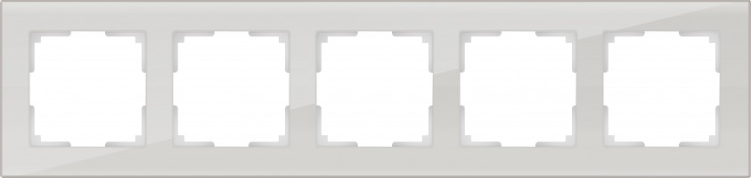 Рамка на 5 постов (белый, стекло) FAVORIT/ WL01