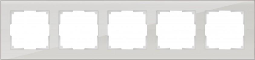 Рамка на 5 постов (дымчатый, стекло) FAVORIT/ WL01