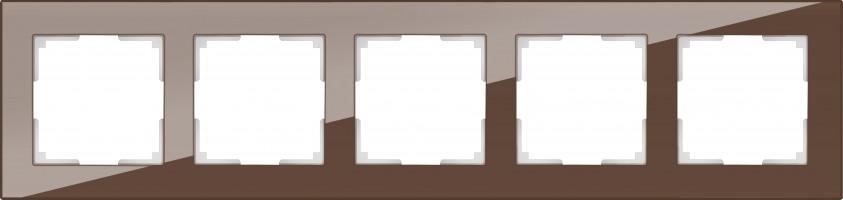 Рамка на 5 постов (мокко) FAVORIT/ WL01