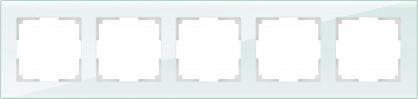 Рамка на 5 постов (натуральн. стекло)  FAVORIT/WL01-Frame-05