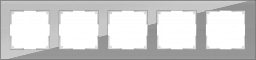 Рамка на 5 постов (серый, стекло) FAVORIT/ WL01
