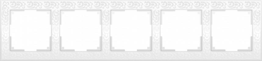 Рамка на 5 постов (белый)  FLOCK/WL05-Frame-05-white