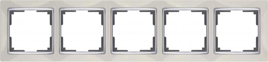 Рамка на 5 постов (слоновая кость) SNABB/WL03-Frame-05-ivory