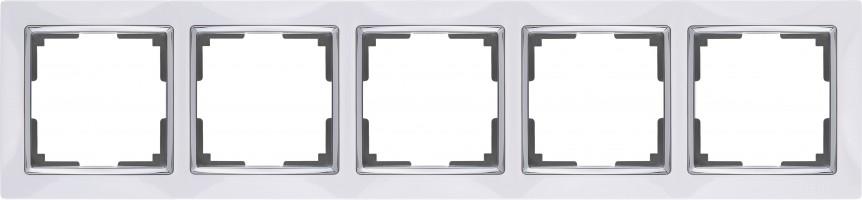 Рамка на 5 постов (белый) SNABB/WL03-Frame-05-white