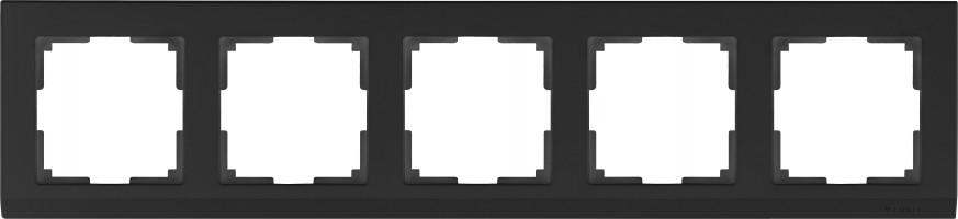 Рамка на 5 постов (черный) STARK /WL04-Frame-05-black